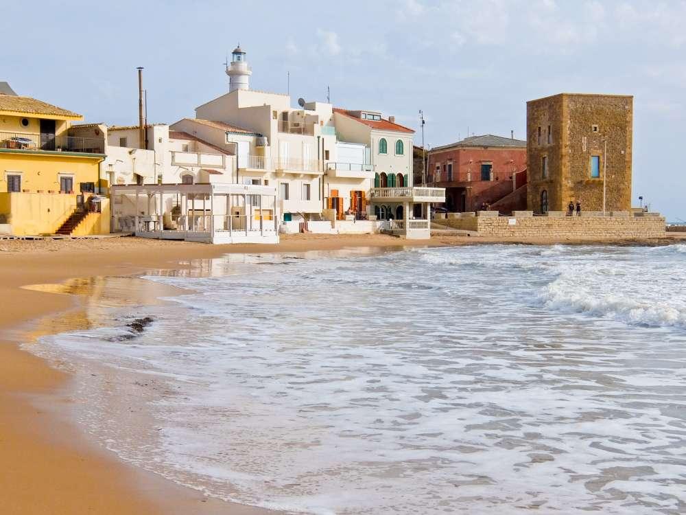 Punta Secca Beach with Montalbano House, Sicily, Italy