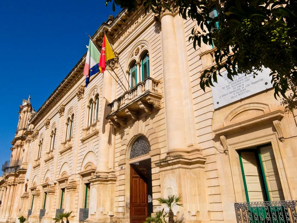 Scicli Townhall, Sicily, Italy