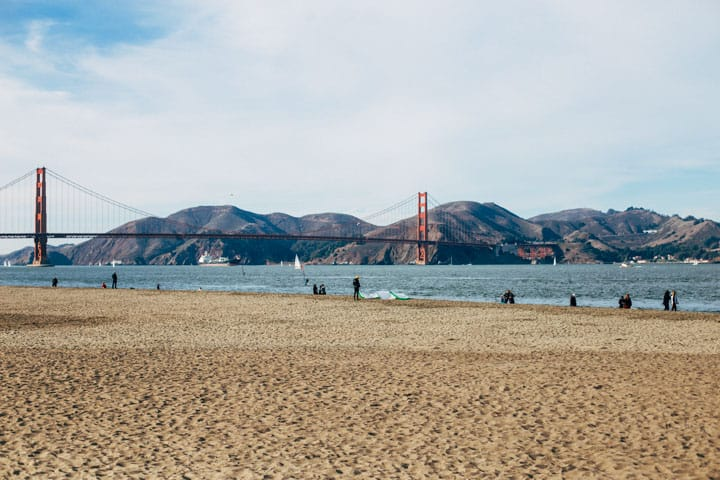 crissy field east beach with golden gate bridge in background san francisco califoria