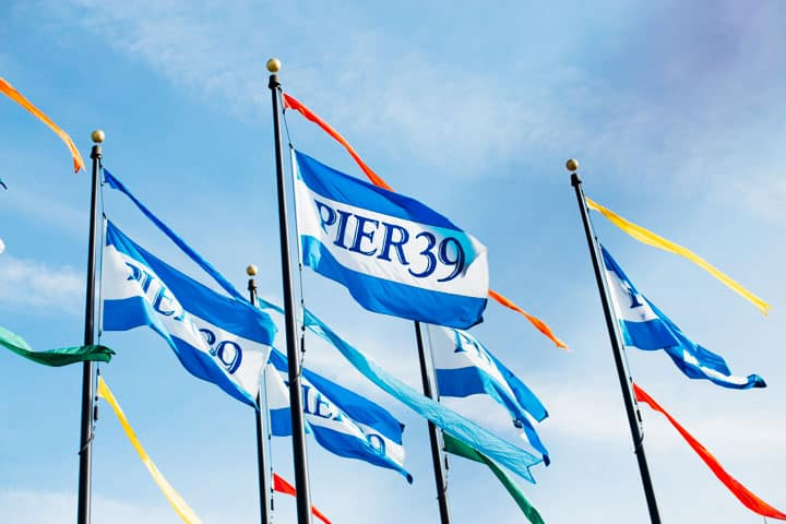 pier 39 flags in san francisco california