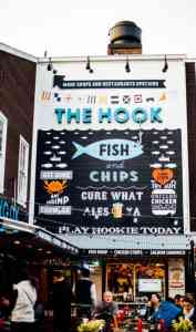 the hook restaurant sign at pier 39 san francisco