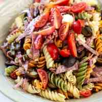 Easy Italian Pesto Pasta Salad