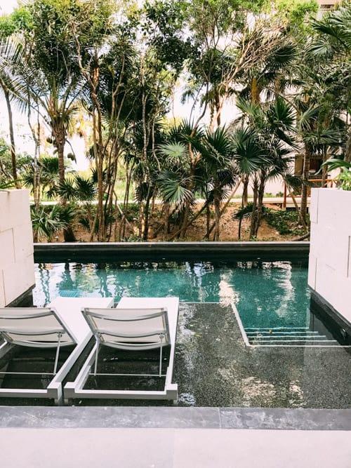 patio with swim up pool riviera maya mexico unico 2087