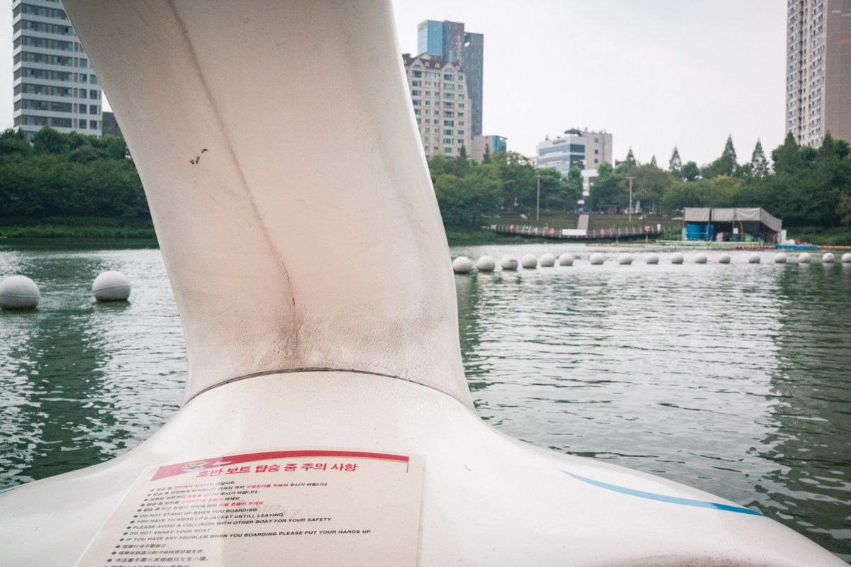 We had Seokchon Lake all to ourselves!