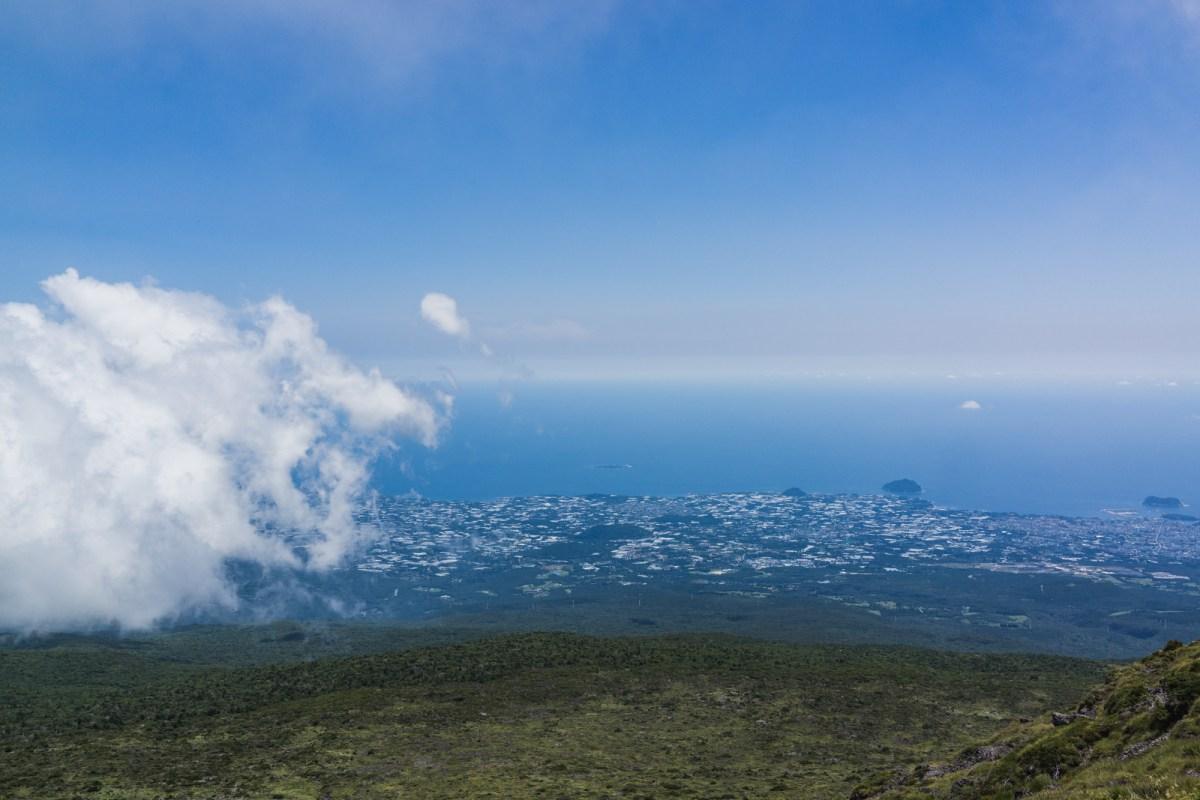 Views of Jeju on Mt. Hallasan
