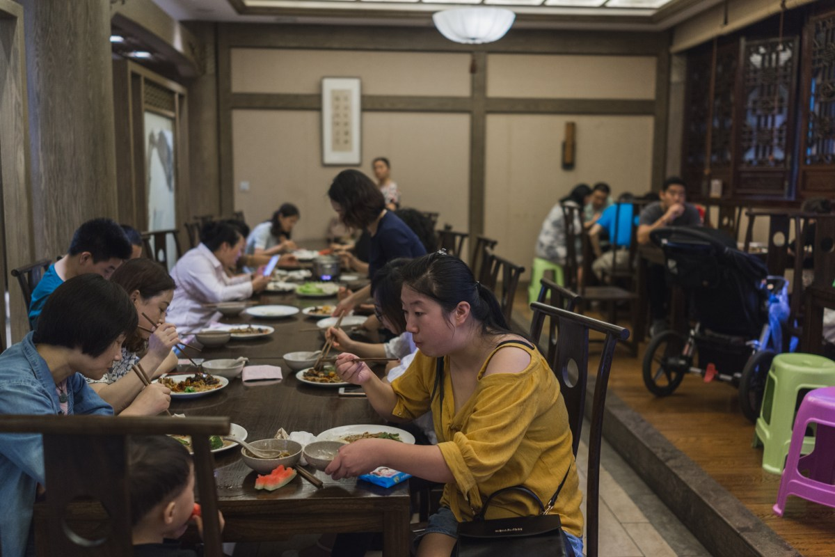 Sharing Tables for Meals in China
