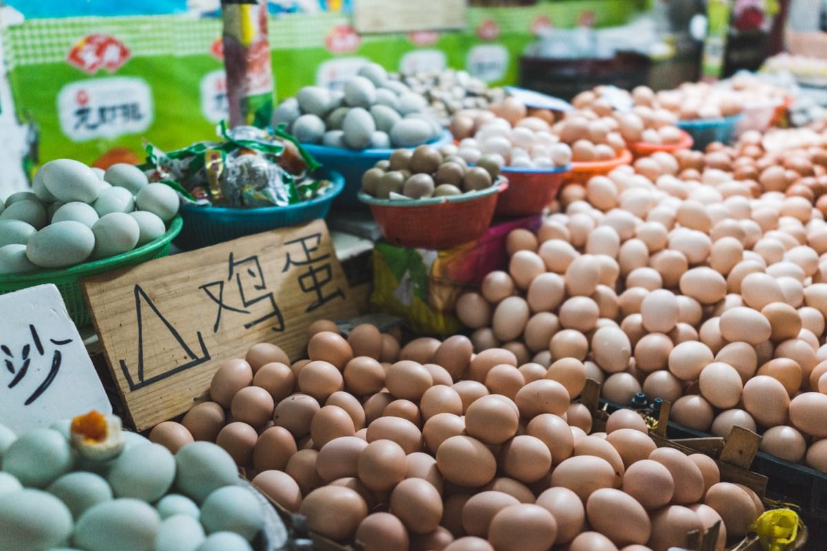 Eggs in Chengdu