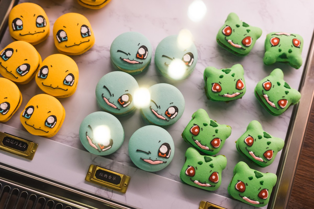 Pokemon Macarons at Peace Love Cafe in Taichung