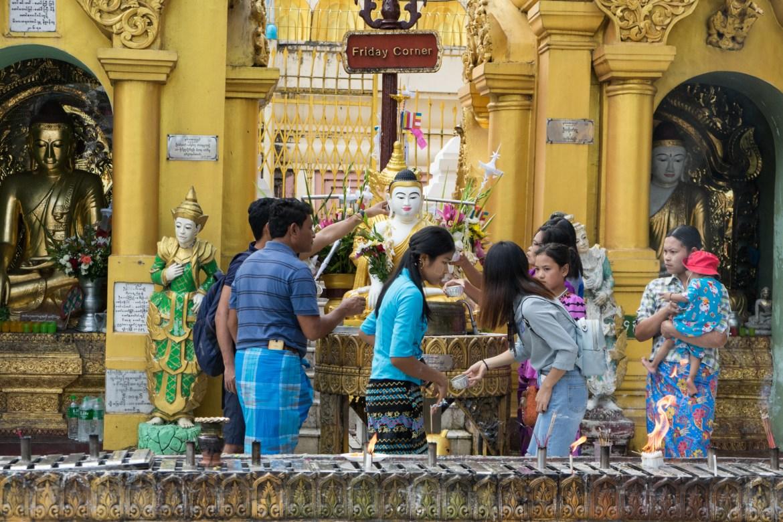 Locals at Shwedagon Pagoda