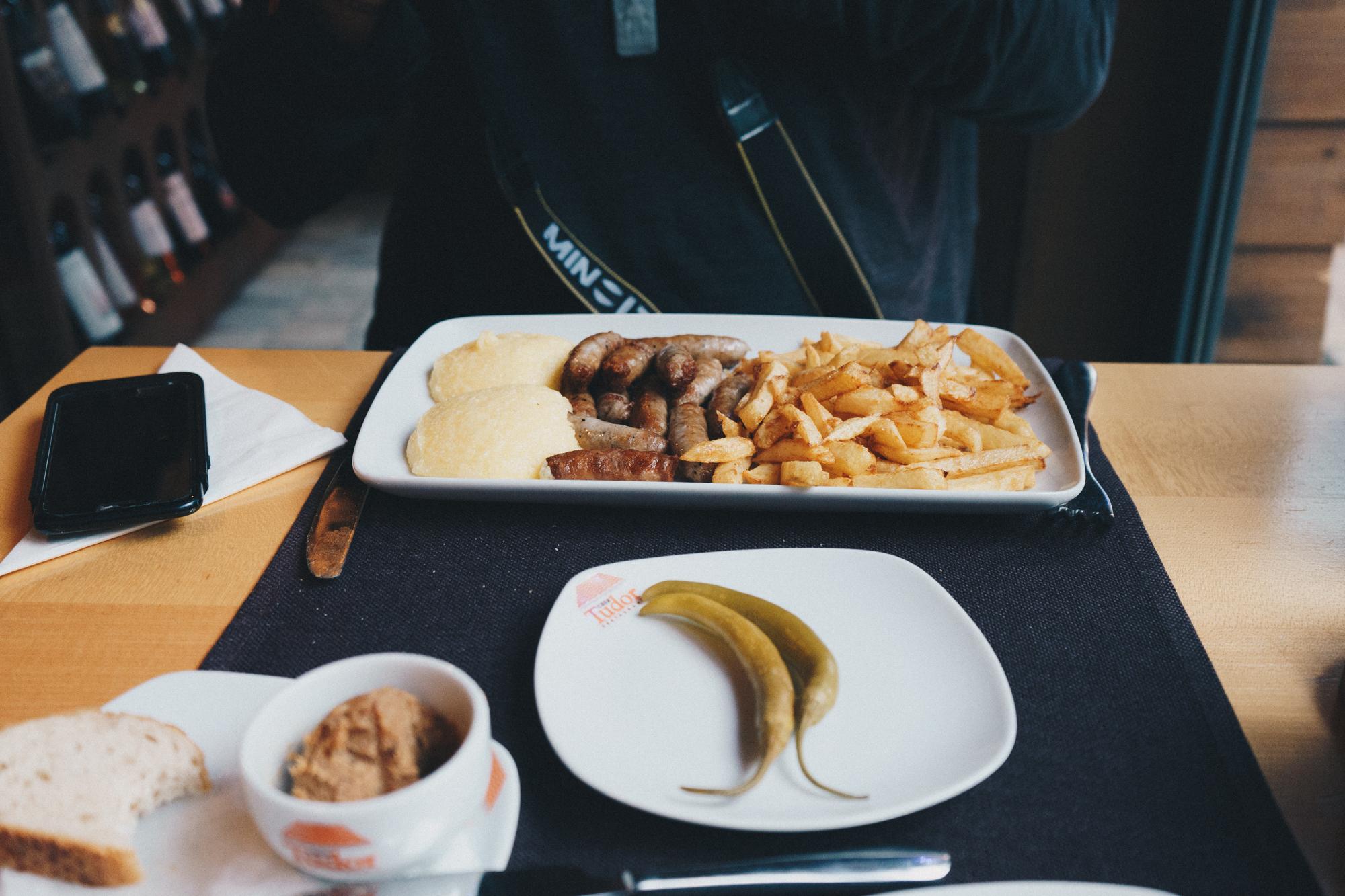 Local Lunch in Brasov, Romania