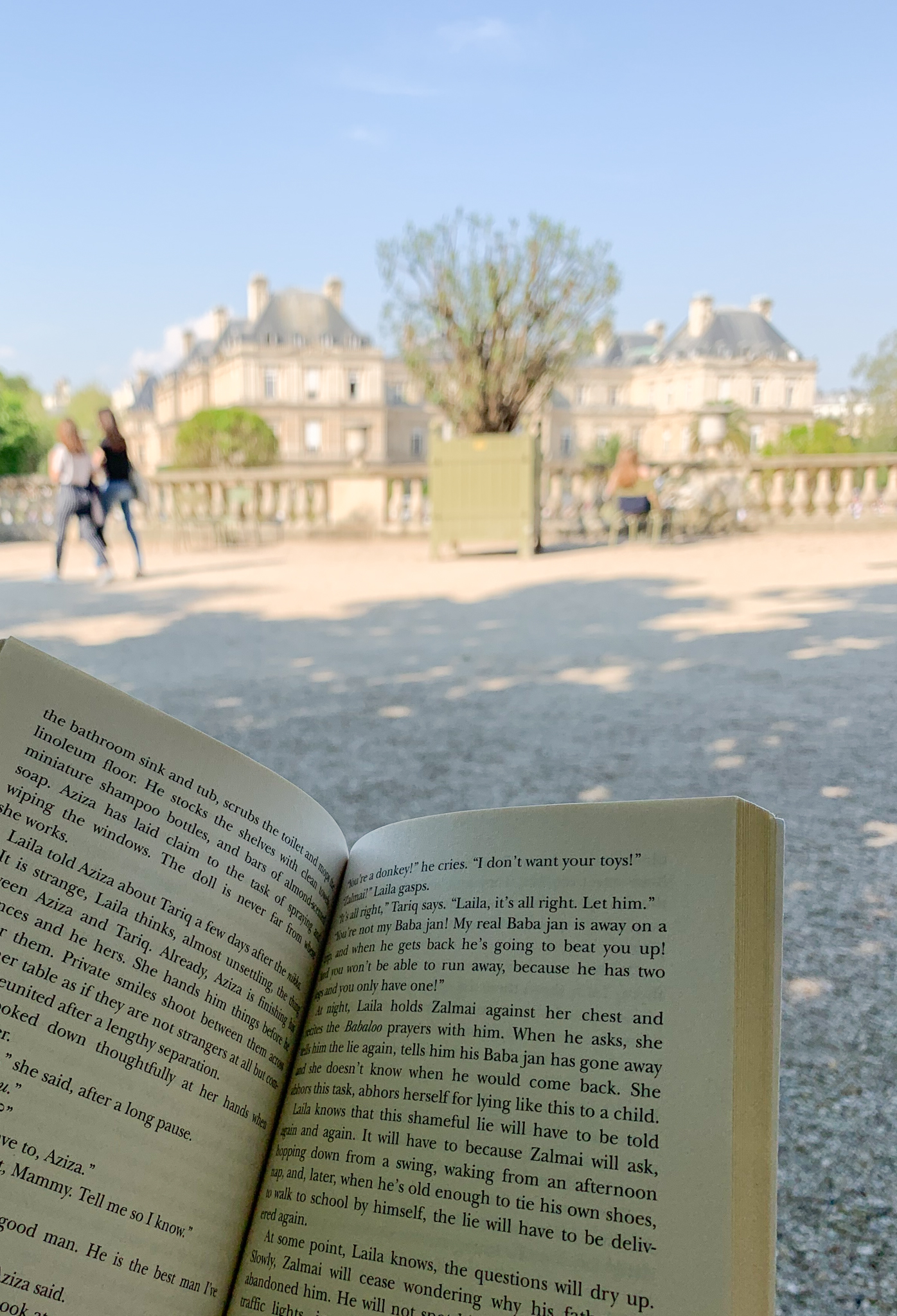 Reading Book Jardin du Luxembourg