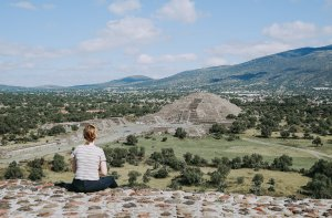 Teotihuacan Pyramids From Mexico City