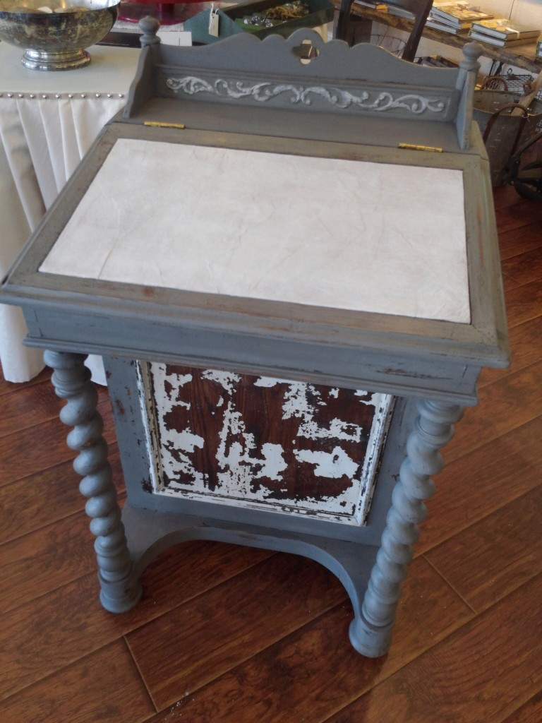 Davenport desk, painted in Trophy and Grain Sack