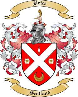 Brice Family Crest From Scotland By The Tree Maker