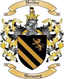 Holder Family Crest From Germany By The Tree Maker