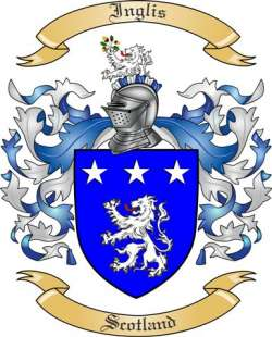 Inglis Family Crest From Scotland By The Tree Maker
