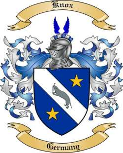 Knox Family Crest From Germany By The Tree Maker