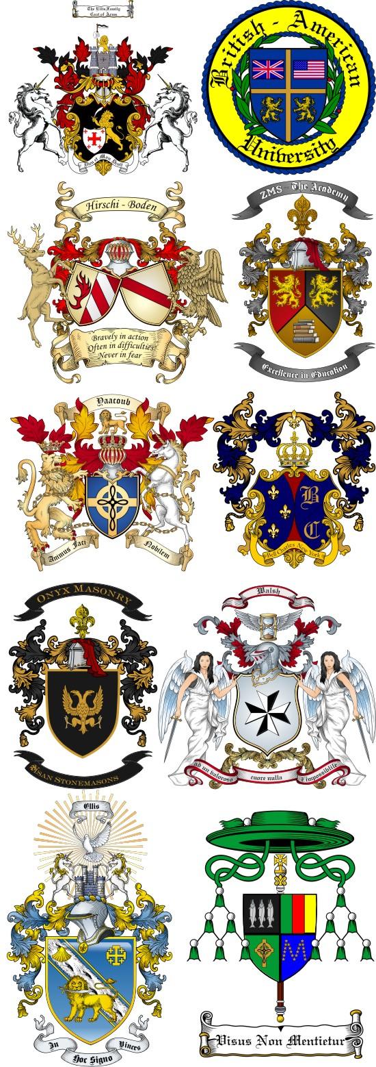 Coat Arms Shield Symbols