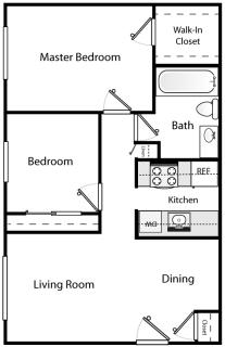 2 Bed / 1 Bath / $400 / Rent: $1,295