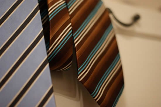 A cheap tie will ruin the most expensive of outfits; it will stand out a mile.
