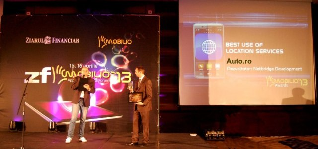 "Aplicația Auto.ro a câștigat premiul ""Best use of location services"" la Mobilio Awards"