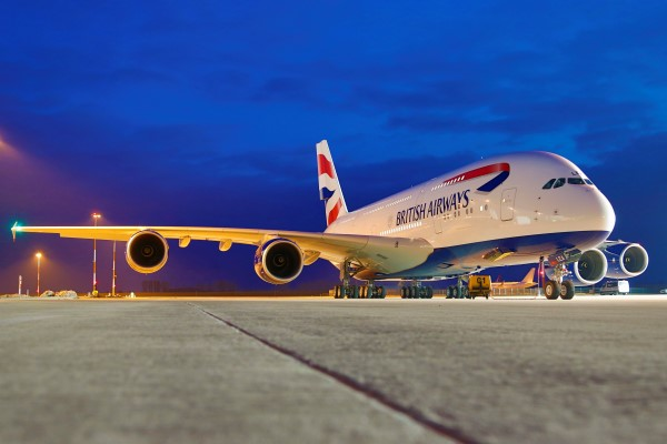 British Airways A380 plane