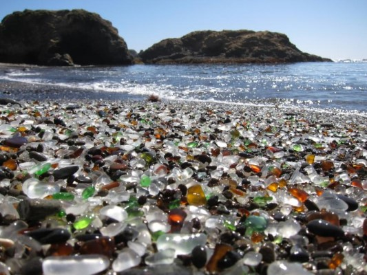 Unique Glass Beach in California