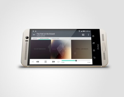 HTC One M9+ Gold on Silver_4