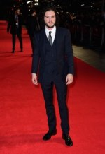 Kit Harington wearing Burberry to the London Film Festival premiere of Testament Of Youth on 14 Obctober 2014