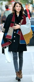 Alexa-Chung-wearing-Burberry-monogrammed-poncho-in-New-York-November-3rd-2014-spl8814871