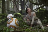 Star Wars: The Force Awakens L to R: BB-8 and Rey (Daisy Ridley) Ph: David James © 2015 Lucasfilm Ltd. & TM. All Right Reserved.