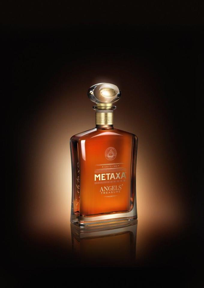 METAXA ANGELS' Treasure - Bottle Angled - Brown Background