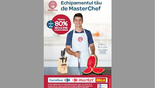 Gama de produse Master Chef, disponibila in magazinele Carrefour si BILLA