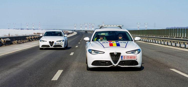 Poliția Ilfov a ales Alfa Romeo Giulia cu 240 km/h