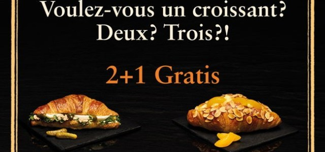 Brutăriile Paul relansează, în ediție limitată, gama Croissant Gourmet. 2 + 1 Gratis!