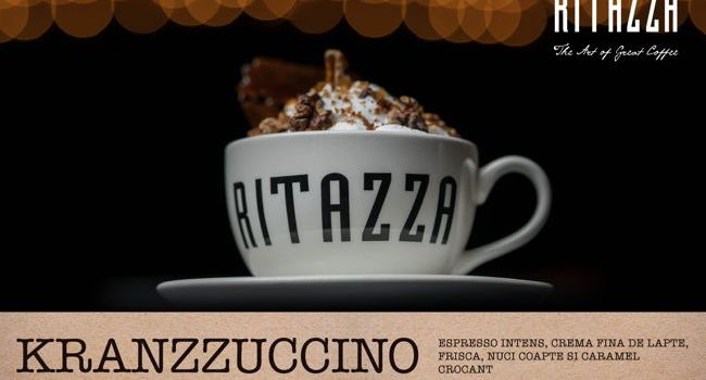 Caffé Ritazza lansează Kranzzuccino – un amestec crocant de cafea,nuci coapte și foițe de caramel