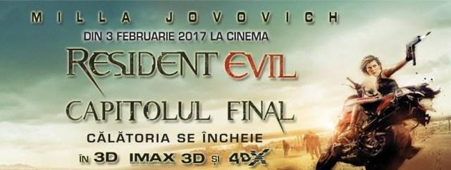 """""""Resident Evil. Final Chapter"""", lider detașat de box office în România"""