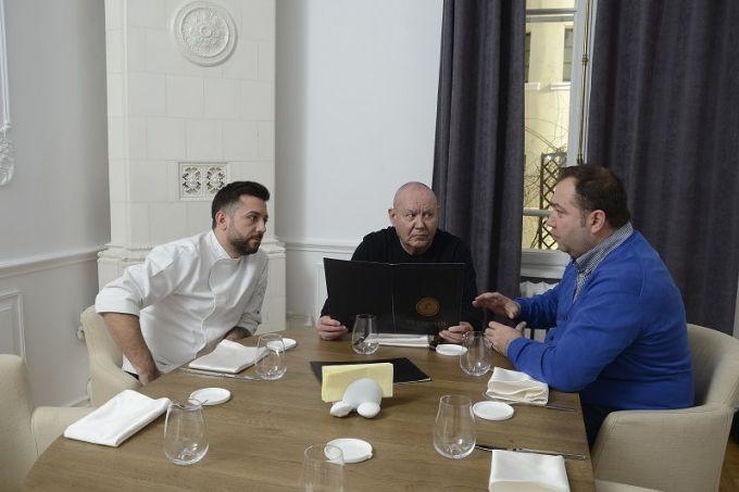 Chef Mihai Irimia, Jean Phillippe Guilbert si Adrian Oprea Hagiu