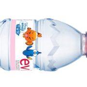 Sticlă specială Evian cu capac sport și etichetă Disney Emoji