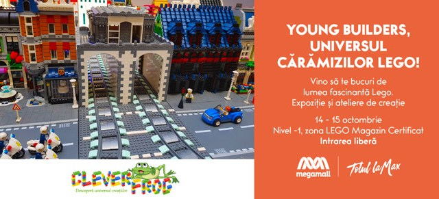 LEGO duce expoziția Young Builders înMega Mall