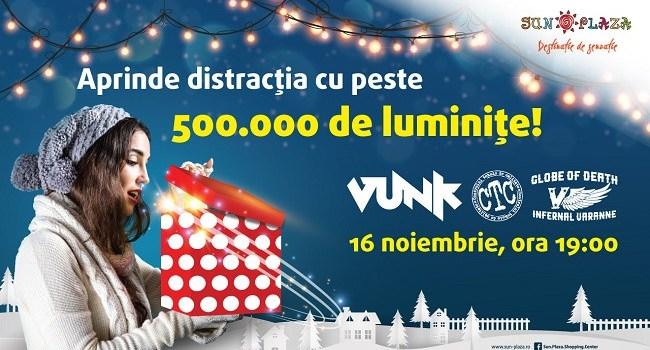 500.000 de luminițe se aprind pe 16 noiembrie la Sun Plaza