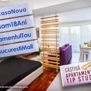 Bucuresti Mall Vitan face cadou un apartament la aniversarea de 18 ani!