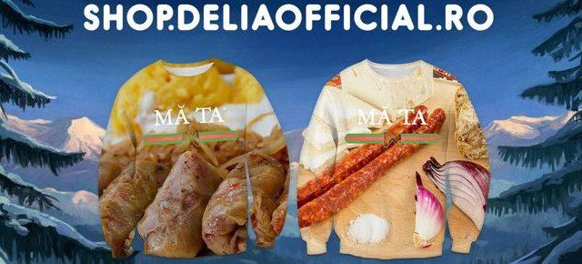 Delia lansează bluze cu sarmale, cârnați, brânză, ceapă și cozonac