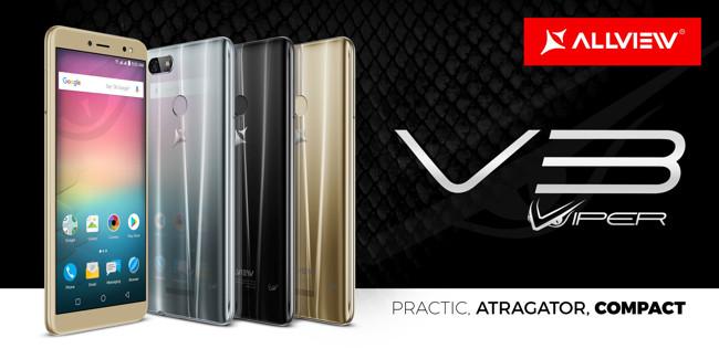 Allview lansează V3 Viper – camere foto cu face beauty video și display 18:9