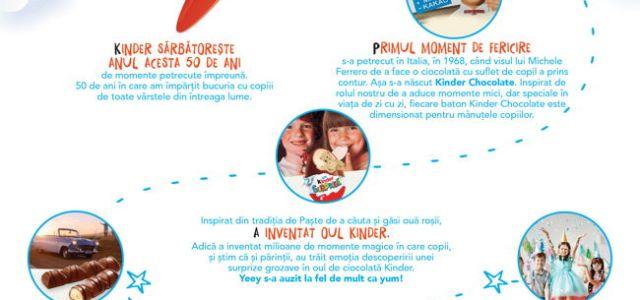 Kinder sărbătorește 50 de ani înconjurat de copiii de toate vârstele