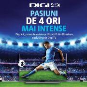 Digi 4K, disponibil pentru abonații Digi TV Digital