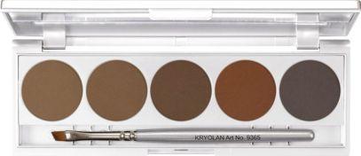 tendinte-machiaj-kryolan-topline-Eyebrow Powder Palette 5 Farben Kopie