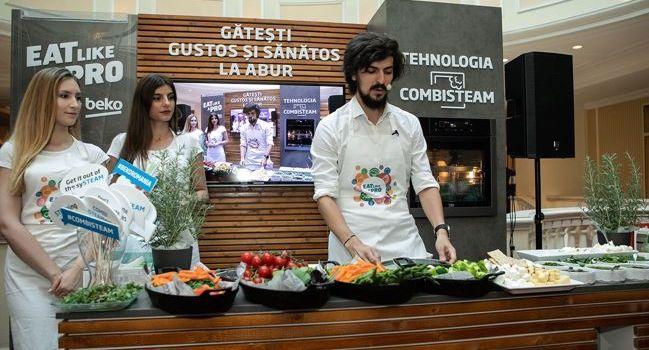 Beko anunță parteneriatul cu Alex Petricean –cheful anului 2018 – și lansează noul cuptor echipat cu tehnologia CombiSteam