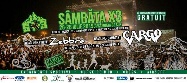 """Cum va arata prima editie a festivalului """"Sambata X3"""""""