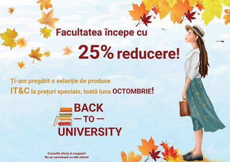 Back to University – Vitacom Electronics vine cu o campanie dedicata studentilor